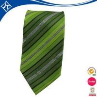 Quality high quality custom color green stripe tie for sale