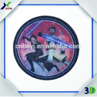 Quality Plastic circle round card Logo transparent sticker for sale