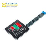 China metal dome tactile membrane keypad with Berg connector on sale