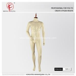 Buy headless male mannequin with wood cap at wholesale prices