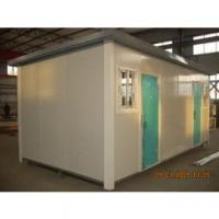 Quality Prefabricated Portable Modular Homes with Connected Raised Bases , Wheels for Moving for sale