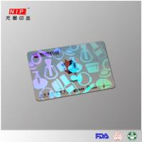 Quality Hologram Id Overlay Hologram embossed transfer overlay with laser effect for sale