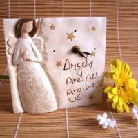 China GLP11632 angel Polyresin angel recordable clock on sale