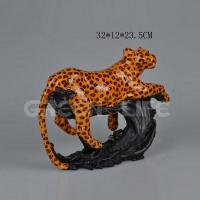 China Office decorative resin leopard on sale