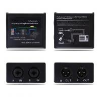 Noise Isolator Professional Full Rage Audio Ground Loop Signal Protector With 3.5-6.35mm Audio Cable