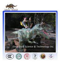 Quality Outdoor Animatronic Dinosaur Rides for Children for sale
