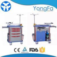 China Medical Emergency Drug Crash Cart With Drawers on sale