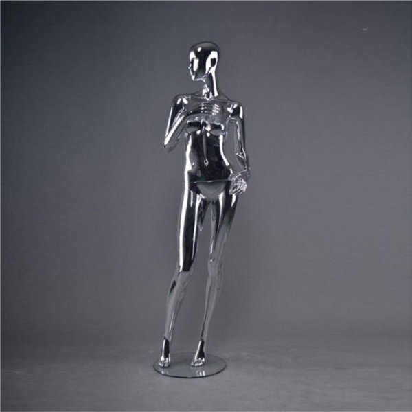 China Silver Chrome Abstract Female Mannequins for Sale