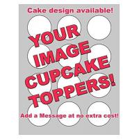 Quality YOUR IMAGE PHOTO LOGO CUSTOM Edible Frosting Sheet Image Cupcake Cookie Toppers! for sale