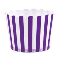 Quality Dress My Cupcake Striped Party Candy Cups,Set Of 24, Purple for sale