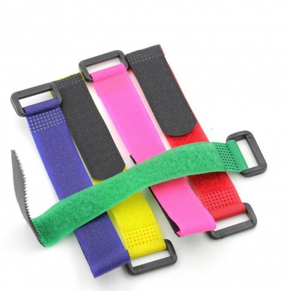 Quality Hook And Loop Colored Binding Strap With Plastic