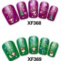 China 24 Designs Christmas 3D Nail Art Sticker Patch Set Decal Decoration XF359-XF382 Item47-4 on sale