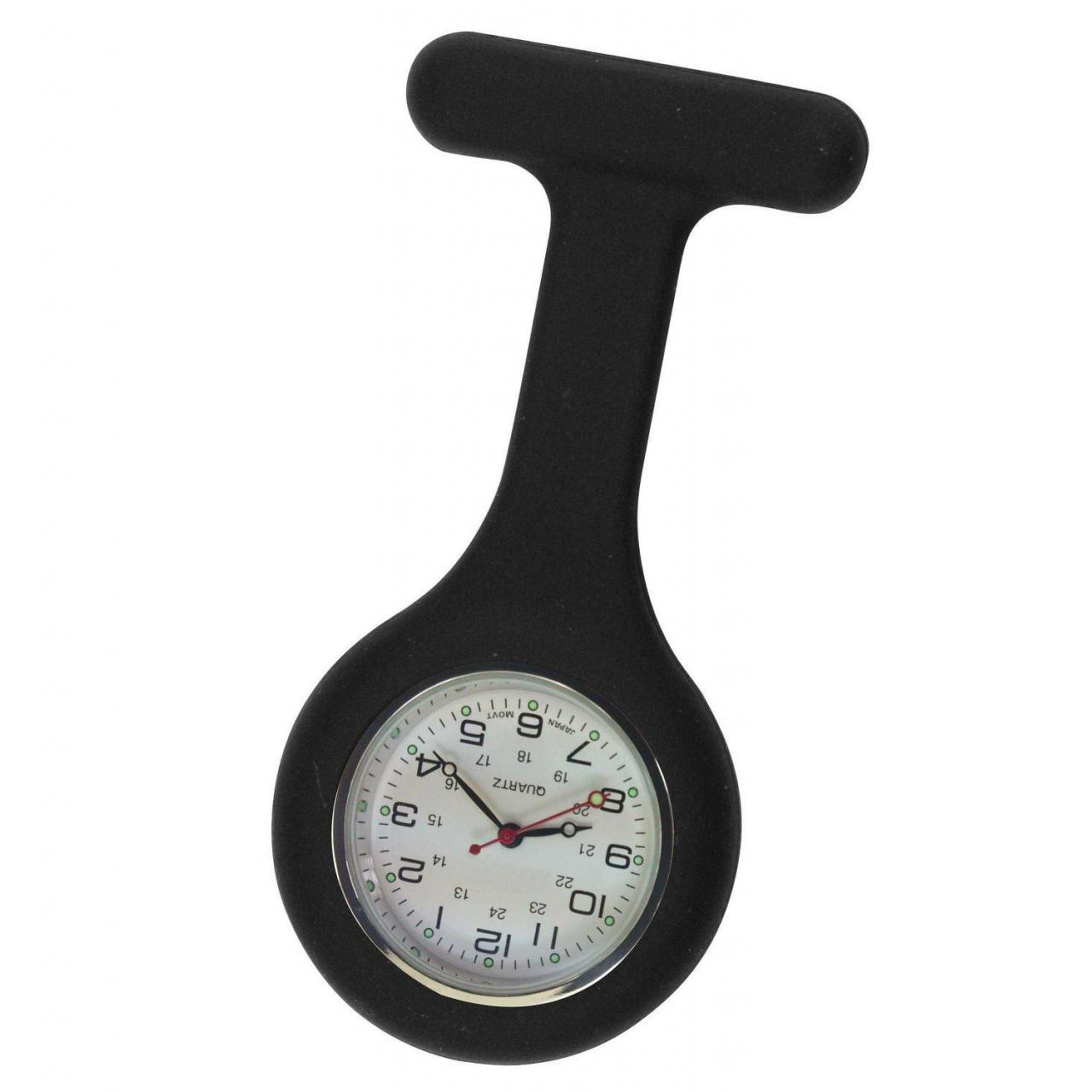 Buy cheap Unisex Nurses Lapel Watch Silicone (Infection Control) Black from wholesalers