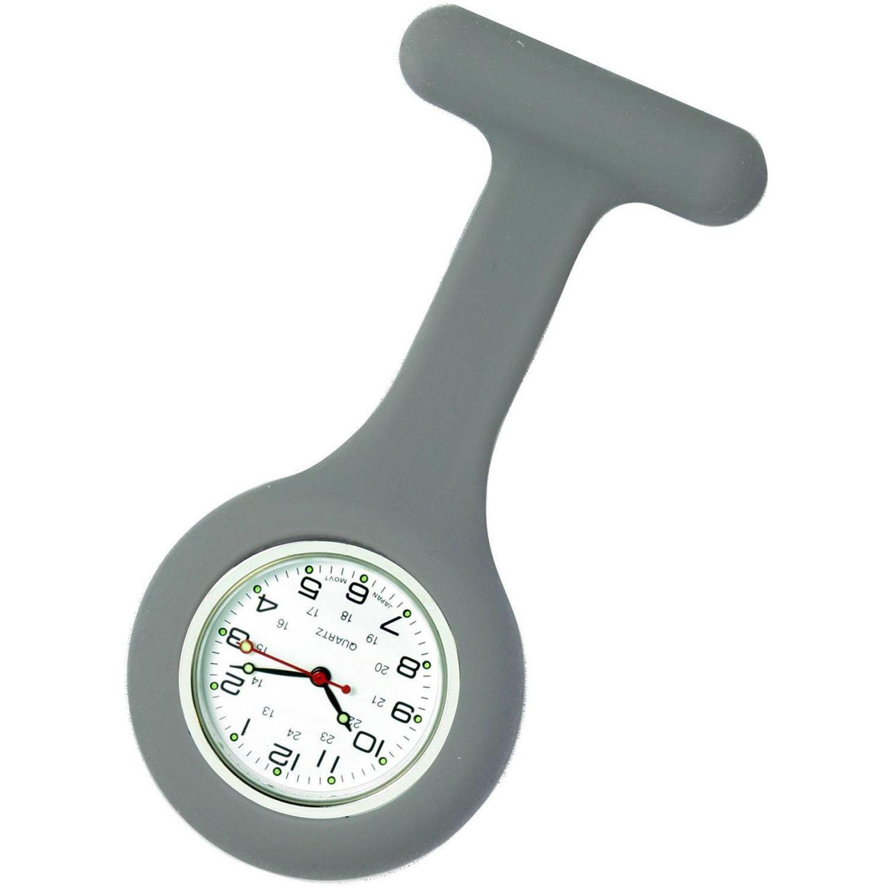 Buy cheap Unisex Nurses Lapel Watch Silicone (Infection Control) Gray from wholesalers