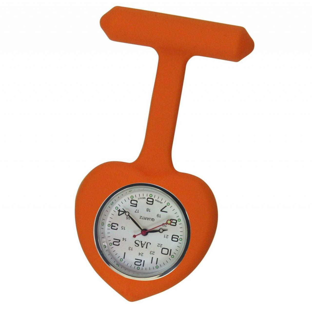 Buy cheap Nurse Watch Silicone (Infection Control) Orange Heart from wholesalers
