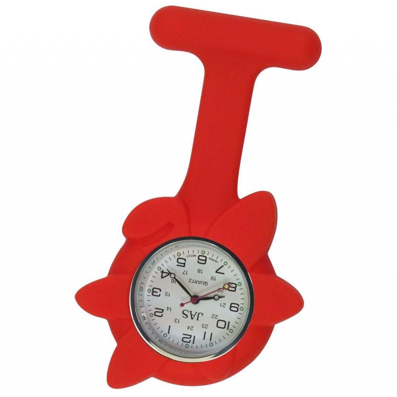 Buy cheap Nurse Watch Silicone (Infection Control) Red Flower from wholesalers