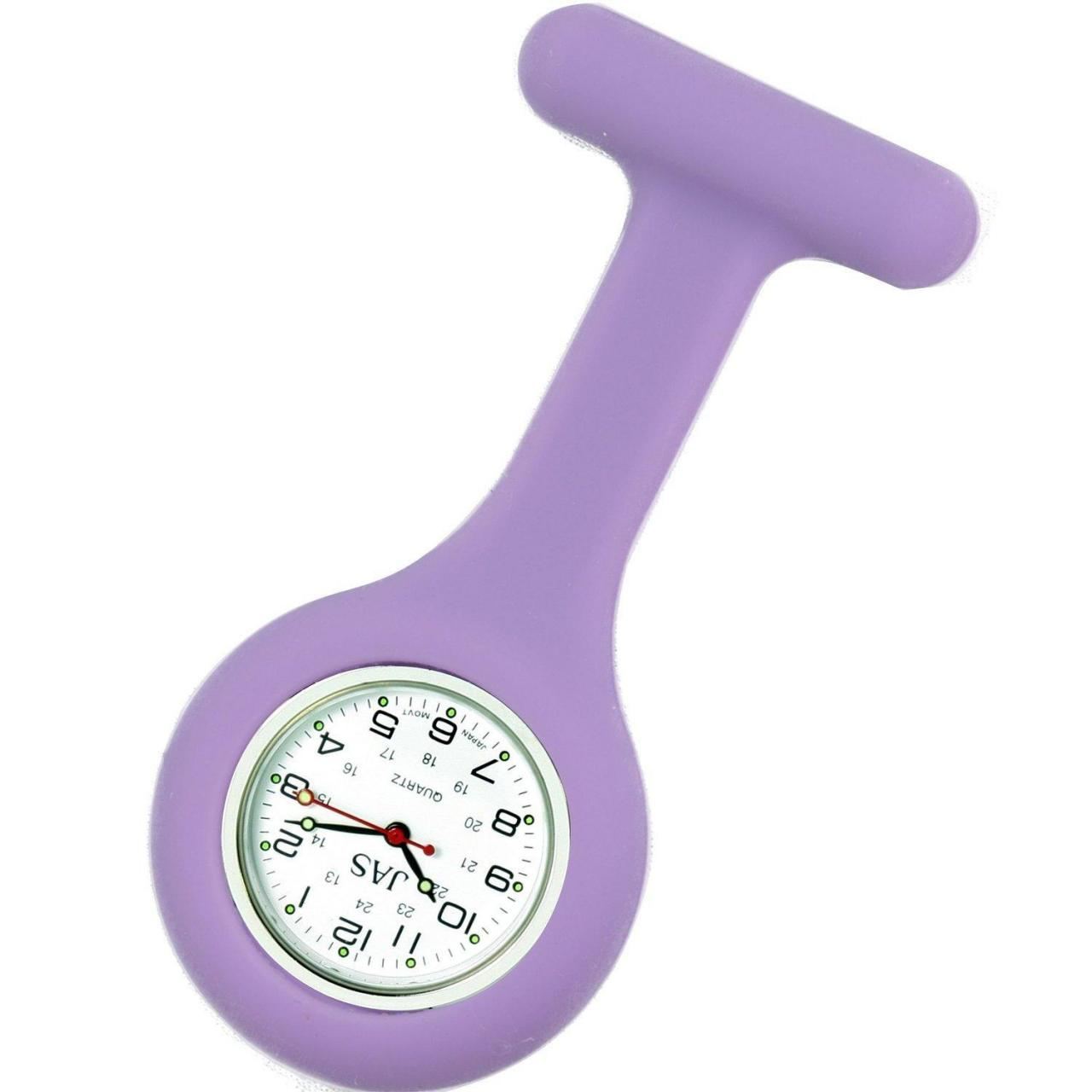 Buy cheap Unisex Nurses Lapel Watch Silicone (Infection Control) Lilac from wholesalers