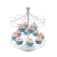 Quality 8 Cups Big Carousel Cupcake Stand With Powder Coating for sale