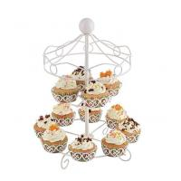 Quality 12 Cupcakes Decorated Cupcake Stand With Round Head for sale