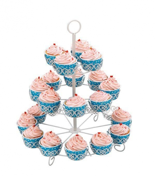 Buy 30 Cupcakes Decorated Cupcake Stand With Powder Coating at wholesale prices