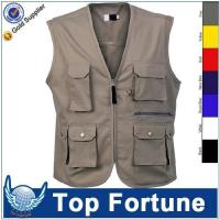 Quality man Sleeveless cheap safety work vest for sale