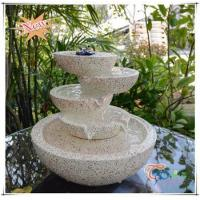 China Imitate Marble LED Polyresin Indoor Glossy Tiered Pot Small Fountain on sale