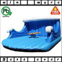 China inflatable mechanical rodeo surfboard ride for adult game, inflatable game for sale on sale