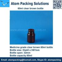 Quality 60ml Clear Brown Medicine bottle for tablet for sale