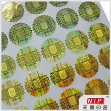 Buy Destructive anti forgery round anti tamper sticker with stamped hologram at wholesale prices