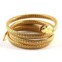 Quality stainless steel simulation gold snake bangle for sale