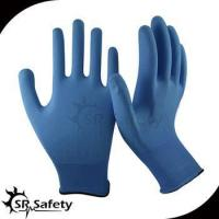 Quality 13 gauge knitted nylon liner coated water-based PU on palm gloves for sale