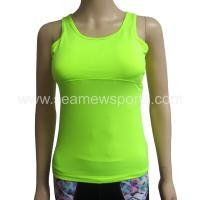 Buy cheap light green dry fit pad compression tank top from