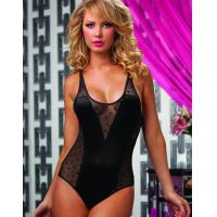 China Teddies( 210 ) S-3XL Black Sheer Dotted Mesh Sexy Teddy LingerieW166619 US$6.25 on sale