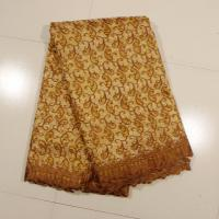 Quality Sign Organza Lace Fabric , Coffee 4 - 5kgs Weight for sale