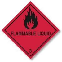 Quality dot flammable liquid label Flammable Liquid Placard for sale