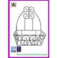 China Decorative metal wall hanging black coco liner planters used in gardens and patios OP03002 on sale