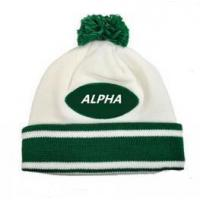 Quality Smart casual pattern winter sport warm knitted beanie hat for sale
