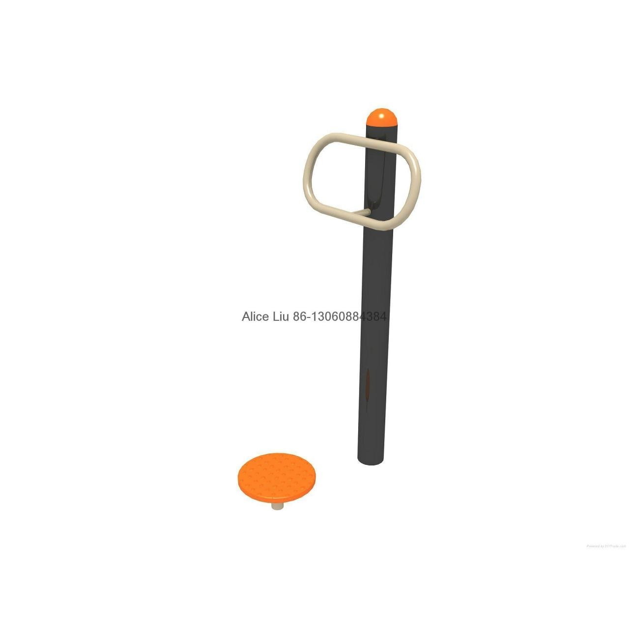 Quality Single Waister playground outdoor fitness equipment for sale