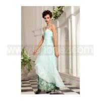 Rhinestone jewel light printed long homecoming dress