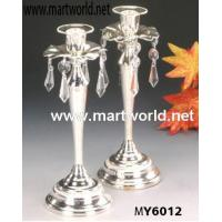 candleholder decoration with crystal hangings for wedding centerpiece decoration