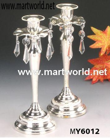 Buy candleholder decoration with crystal hangings for wedding centerpiece decoration at wholesale prices