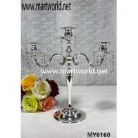 Quality 3 arns crystal hanging candleholder for wedding centerpiece decoration for sale