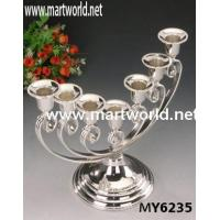 Quality 7 arms trophy shape candleholder for wedding centerpiece decorations for sale