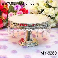 Quality crystal cake stand for wedding cake for sale