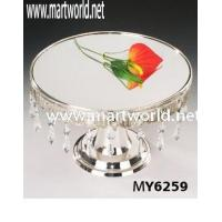 Quality crystal cake stand for cake decoration for sale