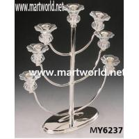 Quality tulip shape crystal candleholder for wedding centerpiece decoration for sale