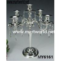 Quality crystal hanging candleholder for wedding centerpiece for sale