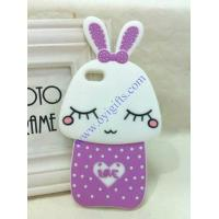 Quality Cartoon shy rabbit silicone phone covers for sale