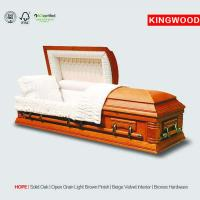 China HOPE glass casket with casket accessories on sale