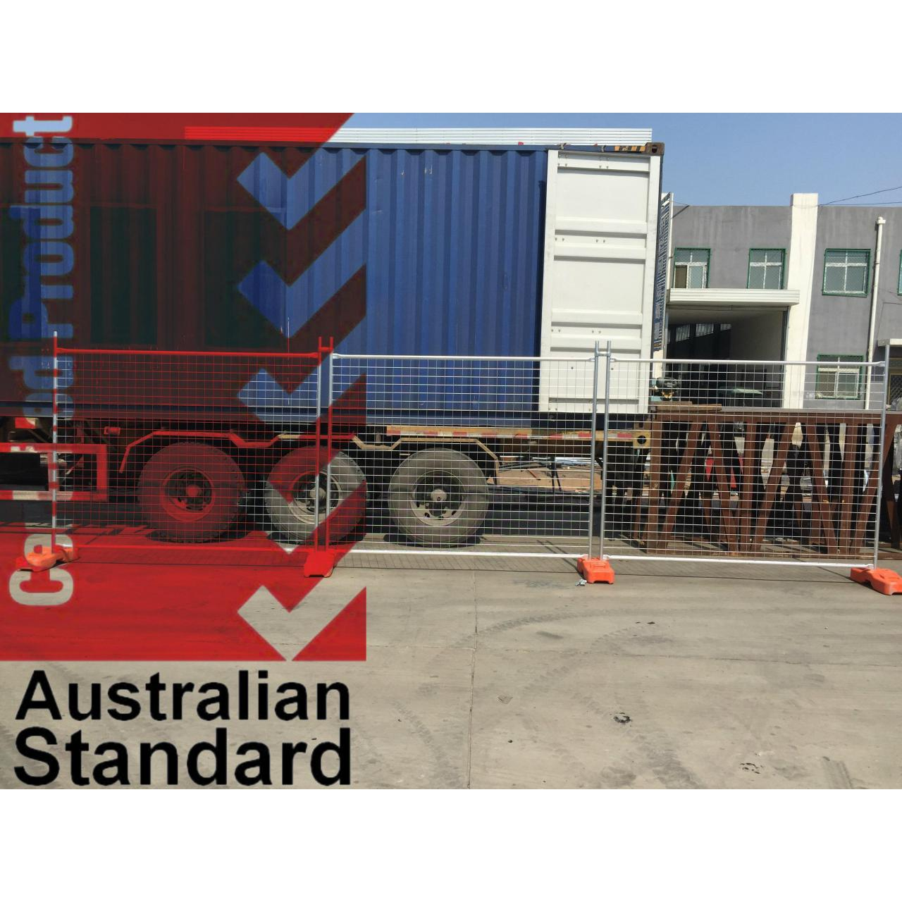 Economic Temporary Fence For Sales Business -17 Microns Zinc Layer HDG before Weld